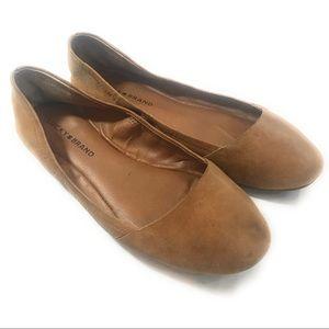 Lucky Brand Emeralda Tan Ballet Flats, Size 8 M